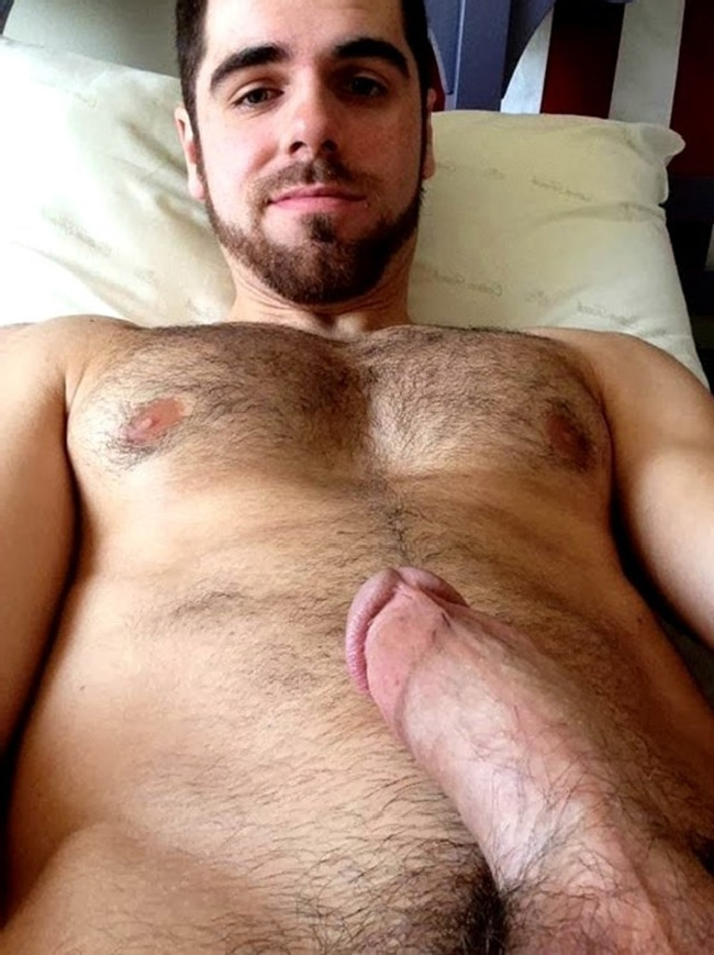 Hairy Nude Man With Cut Cock