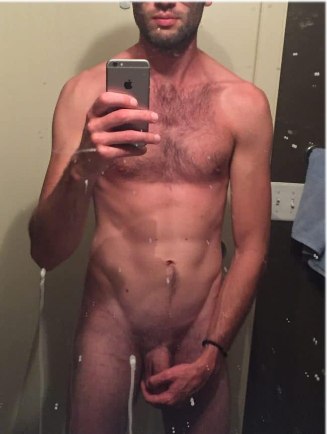 Nude Man Holding Cock